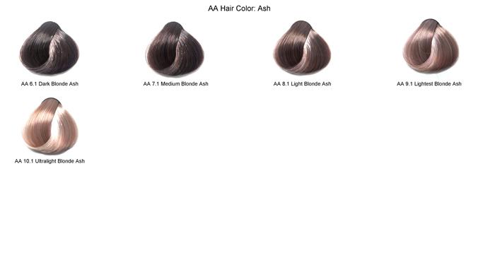 ash hair color chart